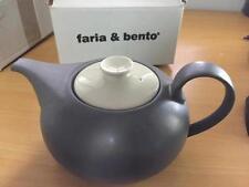 Brand New FARIA & BENTO Hotelware Grey 1.5L Teapot Stoneware Portugal FREE POST