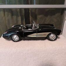 1957 Chevrolet 1:18 Scale Black Corvette ConvertIIble Die Cast Model Car Maisto