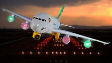 """LARGE 17"""" Air Bus A380 Aeroplane Bump and Go with flashing lights Sound Toy New"""