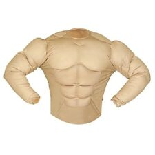 XL Muscle Shirt Costume Extra Large For Super Hero Fancy Dress - Bodybuilder