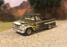 1958 Chevy Apache Truck Rusty Weathered Barn Find Custom 1/64 Diecast Car M2