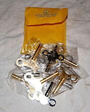 Assortimento di n. 13 chiavi carica pendoli e suonerie