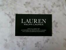 New Ralph Lauren cream white gray floral full sheet set 4pc