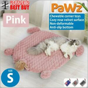 PaWz Pet Calming Bed Cat Dog Squeaky Toys Cushion Puppy Kennel Mat (S) (Pink)