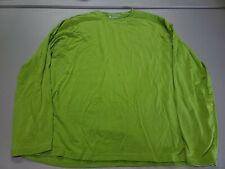 Coolibar Upf 50+ Uv Protection Long Sleeve Green Shirt Mens Medium Crew Neck