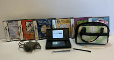 Nintendo DS Lite Blue Bundle Charger, 2 Stylus and 6 Games Tested/Works Case