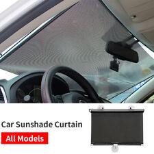 Car Retractable Sunshade Curtain Windshield Window UV Protection Sun Visor Black
