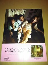 BLONDE REDHEAD 2004 PROMO POSTER for Misery Is A redhead  CD never display USA