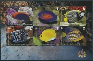 BIOT 2021 MNH Fish Stamps Angelfish Fishes 6v M/S