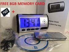 Digital Spy Camera Alarm Clock Hidden Video Cam DVR Motion Detector + 8GB Card