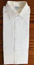 Vintage cotton voile pleated shirt Lord's Burlington Arcade Collar size 16