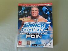 WWE Smackdown Here Comes the Pain Prima's OFFICIAL STRATEGY GUIDE Playstation 2
