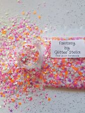 Nail Art Mixed Glitter ( Fantasy ) 10g Bag  Butterfly's Chunky Mix