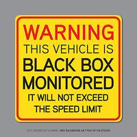 Black Box Monitored - Young Driver Car Warning Sticker Decal - SKU2328