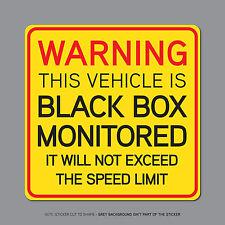SKU2328 - Black Box Monitored - Young Driver Car Warning Sticker Decal