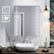 Bathroom LED Mirror Cabinet 600x700mm  Infrared Sensor Stainless Steel Cupboards