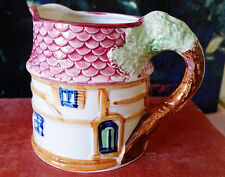 Vintage Cottage Ware Creamer Syrup Pitcher Shingled Roof Made in Japan 1940s-50s