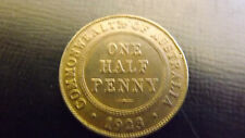 1/2 PENNY 1923 NEW TYPE OUT OF CHINA HAS OBVERSE DIE CRACK HARSHLY CLEANED