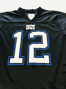 Indianapolis Colts Andrew Luck Football Jersey Youth XXL (18) Black #12 NFL Team