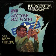 Pacesetters Air Force Band - w/Dizzy Gillespie LP Mint- USA Private Army Jazz