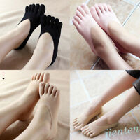 Cute Women's Low Cut Ankle No Show Toe Socks for FILA Skele Five Finger Shoes