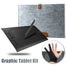 Huion H610 Pro Art Graphics Drawing Tablet + Wool Liner Bag + Anti-fouling Glove