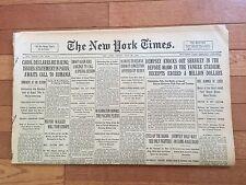 1927 New York Times JACK DEMPSEY KOs JACK SHARKEY Boxing; Complete Newspaper