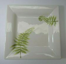 "Pottery Barn China Plate Salad Dessert Appetizer Fern PBAFER 8 1/2"""