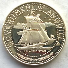 Anguilla 1969 Ship Atlantic Star 4 Dollars Silver Coin