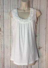 Ann Taylor S Loft Petite Women White Floral Embellished Sleeveless Tank Top Smal
