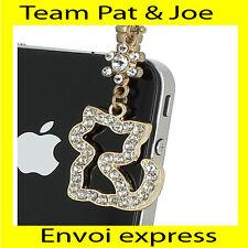BIJOU CACHE POUSSIERE telephone portable pour PRISE JACK style Chaton Diamant