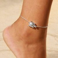 2018 Beach Turtle Barefoot Sandals Anklet Chain Silver Animal Foot Bracelets--