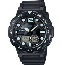 Casio Men's Databank 30 Watch, 100M, 3 Alarms, Chronograph, Resin, AEQ100W-1AV