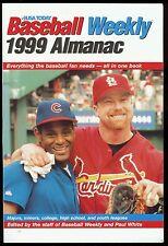 1999 USA Today Baseball Weekly Almanac Sammy Sosa & Mark McGwire on the Cover