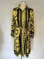BNWT FOREVER UNIQUE U COLLECTION YELLOW & BLACK PRINT TIE WAIST DRESS SIZE M