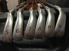 PING G15 Iron Set Golf Club 5-W Stiff White Dot +1/2 Inch AWT wth Cushin Inserts