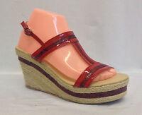 High Heel Platform Wedge Sandals Slingback Buckle Ankle Strappy Shoes Heels Size