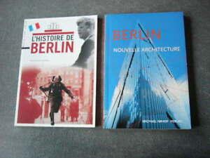 BERLIN  LOT DE 2 LIVRES  L'HISTOIRE DE BERLIN / BERLIN NOUVELLE ARCHITECTURE TBE