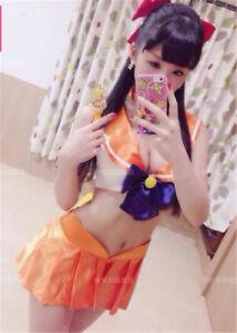 Sailor Moon Mercury Mars Sailor Jupiter Venus Costumes Bikini Swimsuit suit