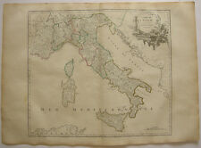 Italia routes de postes Sardegna Cerdeña ORIG grabado R. Vaugondy 1680