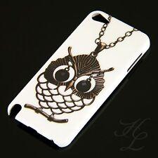 Apple iPod Touch 5 5G Hard Case Schutz Hülle Motiv Etui Cover Kette Eule Owl