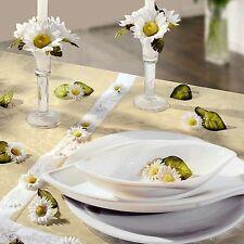 WENKO® 24 tlg Tischdeko MARGERITE Blüten Blätter Kerzen TISCHDEKORATION Festtafe