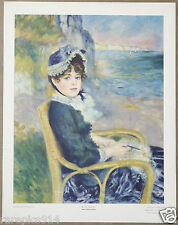 Renoir By the Seashore Vintage Lithograph