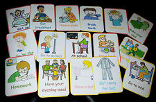 DAILY ROUTINE- 16 FLASH CARDS- SPECIAL NEEDS/ COMMUNICATION/UNDERSTANDING/EYFS