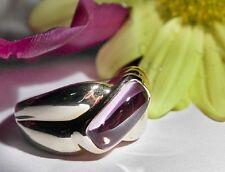 SALE! Genuine Amethyst Solid 14k Y.Gold Ring