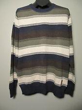 EDDIE BAUER Men's Sweater - Multi-Color - Size L Sport Shop Striped