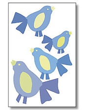 Blue Birds Bird Peel & Stick Removable & Repositionable Wallies Stickers Decals