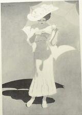 Advertising Design by W. J. Wildhawk. B&W Illustration. The Studio, 1908.