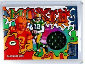"AARON RODGERS--PACKERS--2021 DONRUSS ELITE--""MOXIE"" RELIC"
