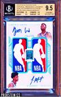 2019 National Treasures Dual NBA Logoman Zion Williamson Morant AUTO RC BGS 9.5